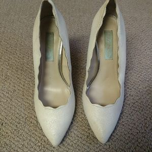 White Betsey Johnson Pumps